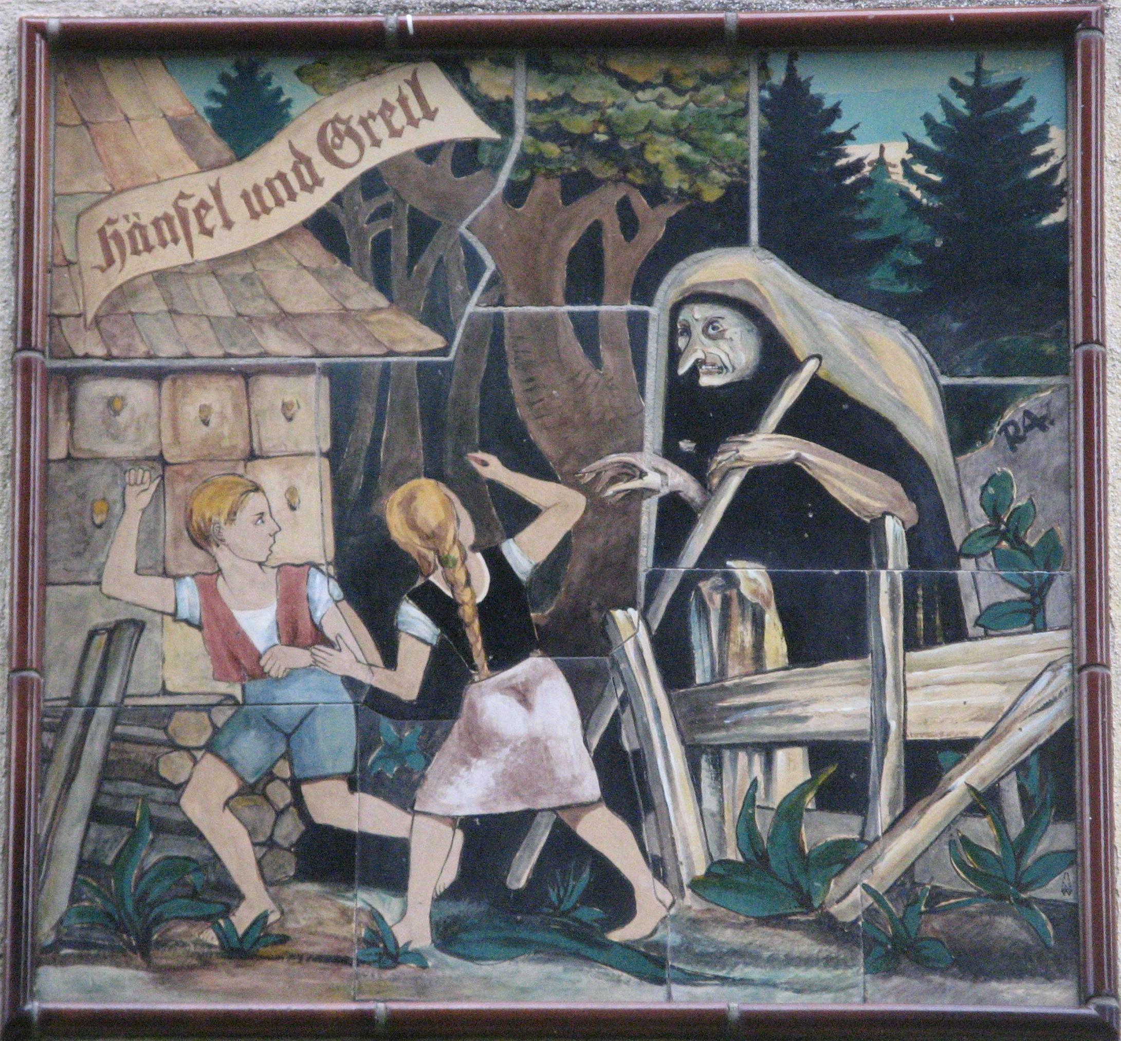 Hänsel und Gretel (um 1940), Johann-Mithlinger-Siedlung, Raxstraße 7-27, Wien-Favoriten