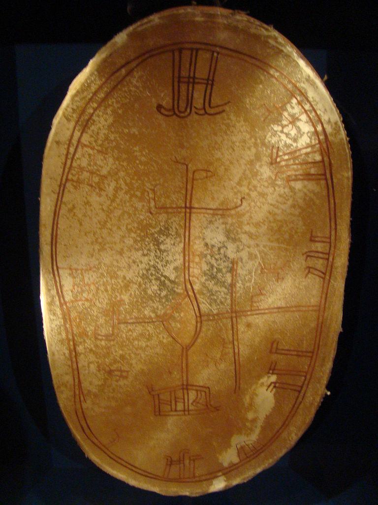 A Sami shamanic drum, Arktikum Museum in Rovaniemi, Finland.