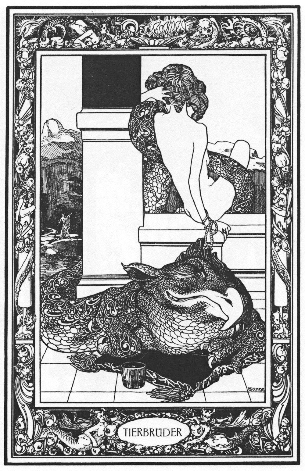 Von Bayros:Illustration for Giambattista Basile's Pentamerone