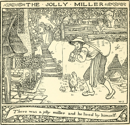 'The Jolly Miller' illustrated in Gomme's 1894 work 'Children's Singing Games'