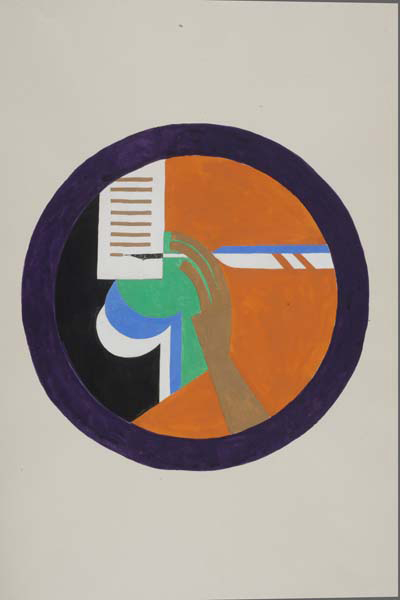 Sigil design for the 'Glig Writere' (Glee writer) by John Hargrave, 1928. © Museum of London / Kibbo Kift Foundation