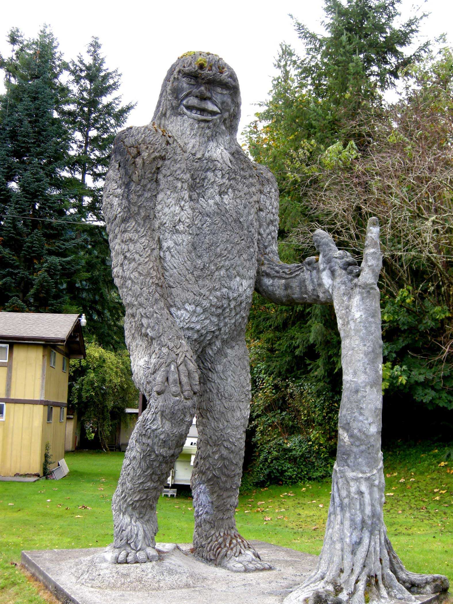 Folk carving of Bigfoot near Silver Lake, WA. https://commons.wikimedia.org/wiki/Category:Bigfoot#/media/File:BigfootStatue-SilverLakeWA.jpg