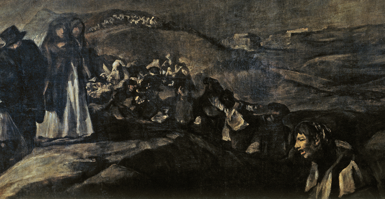 The Holy Company (Detail of La romeria de San Isidro, by Goya)