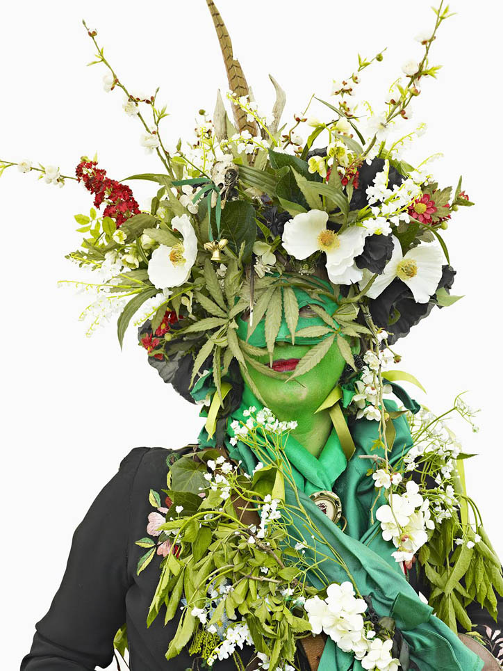 Jane Wildgoose, Jack In The Green, Hastings 2009, photograph ©Henry Bourne.