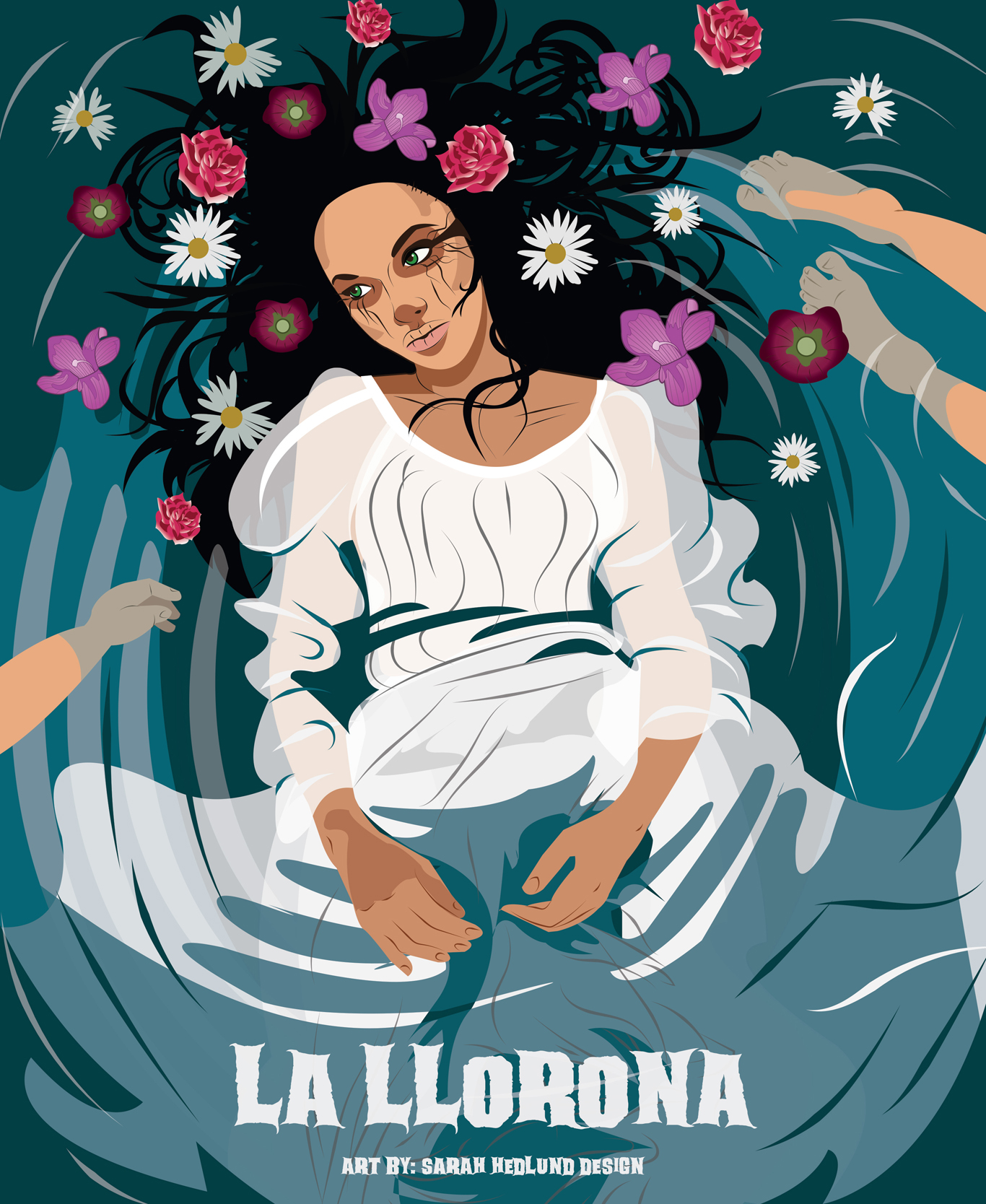 La Llorona, , urban legend © Sarah Hedlund Design