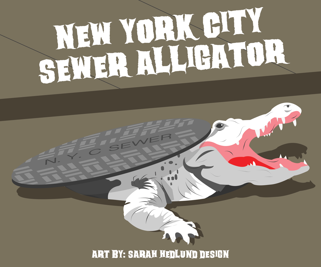 NYC alligator urban legend © Sarah Hedlund Design