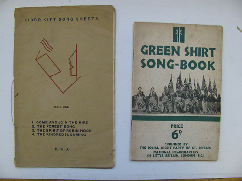 Kibbo Kift Song Sheets, 1929-30; Green Shirt Song Book, 1936. © Museum of London / Kibbo Kift Foundation