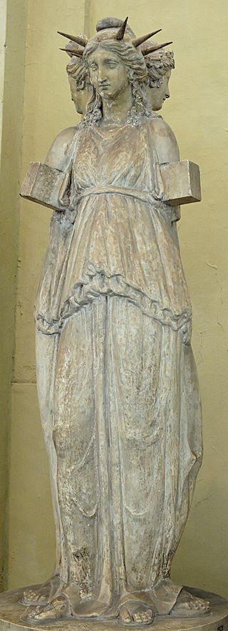 The Hecate Chiaramonti, a Roman sculpture of triple Hecate, after a Hellenistic original