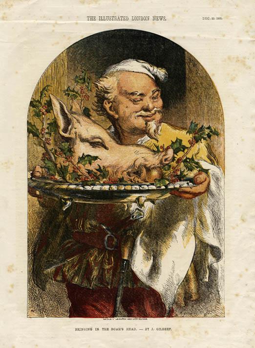 Bring in the Boar's Head [Illustrated London News] https://commons.wikimedia.org/wiki/File:Bringing_in_the_Boar%27s_Head.jpg?uselang=en-gb