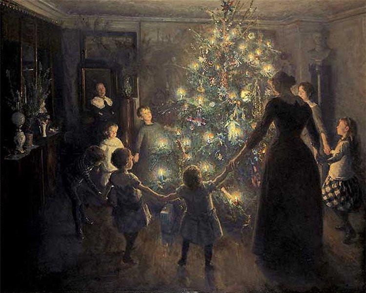 Glade jul by Viggo Johansen (1891)