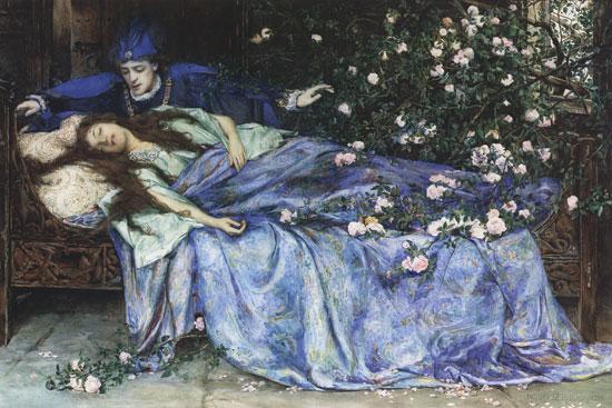 """""""Sleeping Beauty"""", by Henry Meynell Rheam https://en.wikipedia.org/wiki/Sleeping_Beauty#/media/File:Henry_Meynell_Rheam_-_Sleeping_Beauty.jpg"""