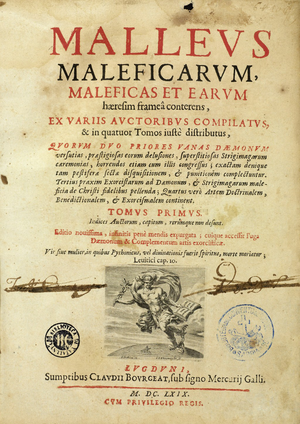 Title page of the Malleus Maleficarum (Hammer of Witches), the main treatise on witchcraft © http://wellcomeimages.org/indexplus/obf_images/9b/44/a3099ffc223cb9f244846af2909a.jpg