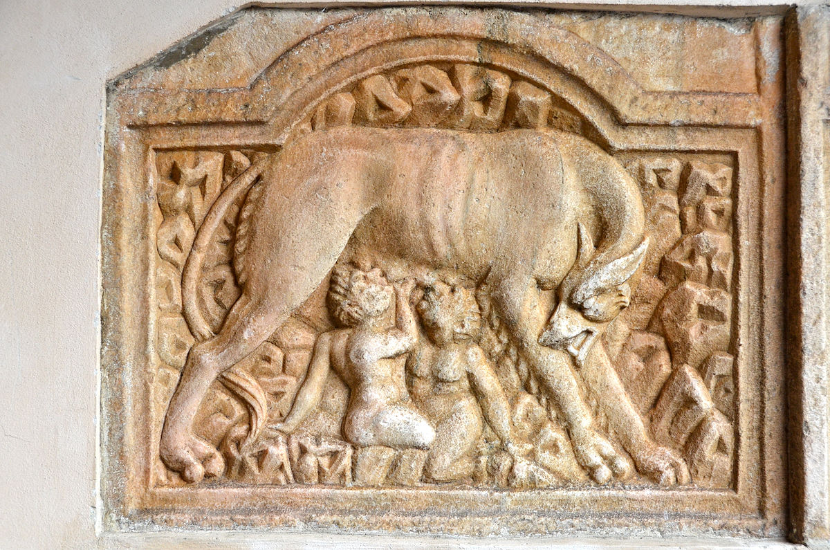 Romulus and Remus were nursed by a she-wolf © Johann Jaritz - Own work, CC BY-SA 3.0 at, https://commons.wikimedia.org/w/index.php?curid=30384089