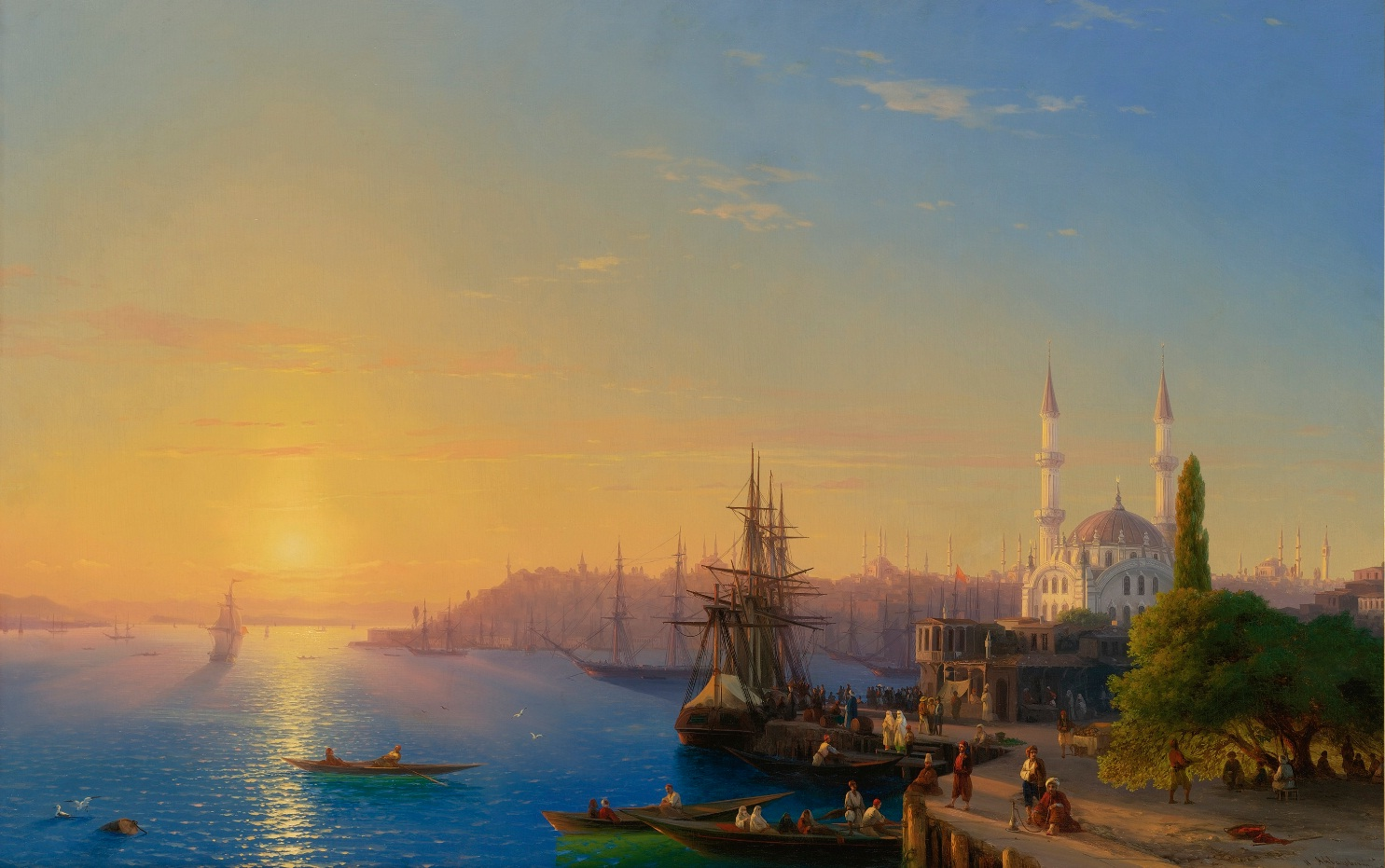 View of Constantinople and the Bosphorus by Aivazovsky © https://commons.wikimedia.org/w/index.php?curid=21747515
