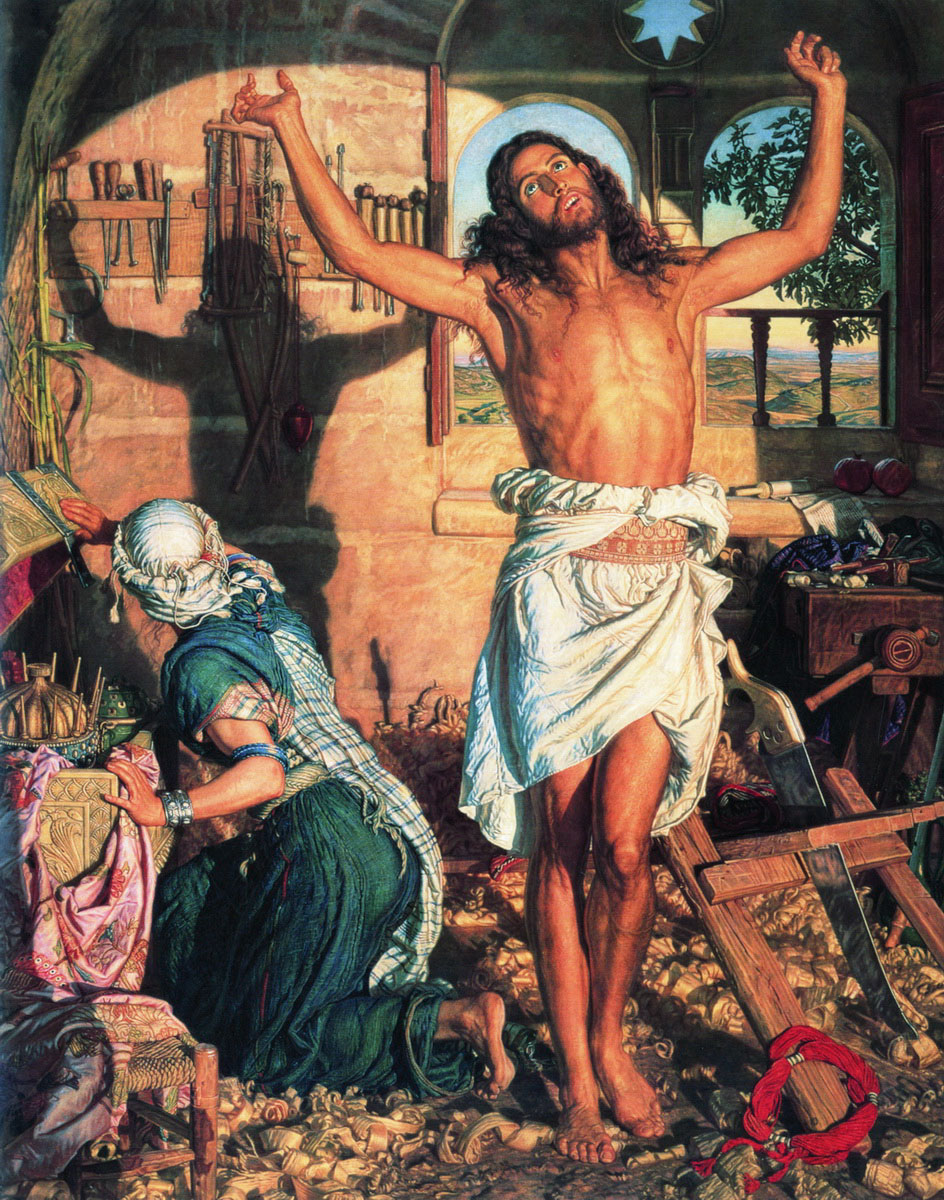 The Shadow of Death by William Holman Hunt https://upload.wikimedia.org/wikipedia/commons/0/03/William_holman_hunt-the_shadow_of_death.jpg