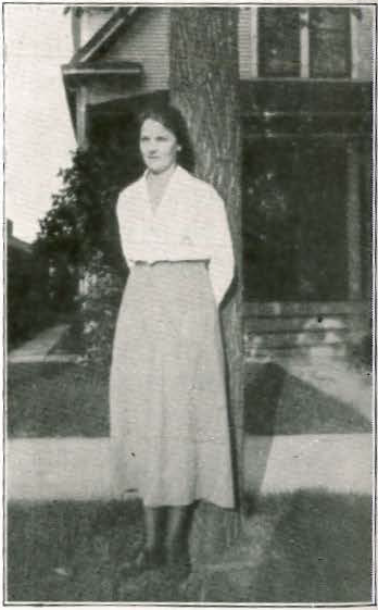 Signe Aurell stands in front of the Minneapolis home where she lived in 1919. This is one of 12 known addresses for Signe Aurell during her seven years in the city. Page 26 of Bokstugan, issue #16, 1921: http://www.worldcat.org/oclc/46448568