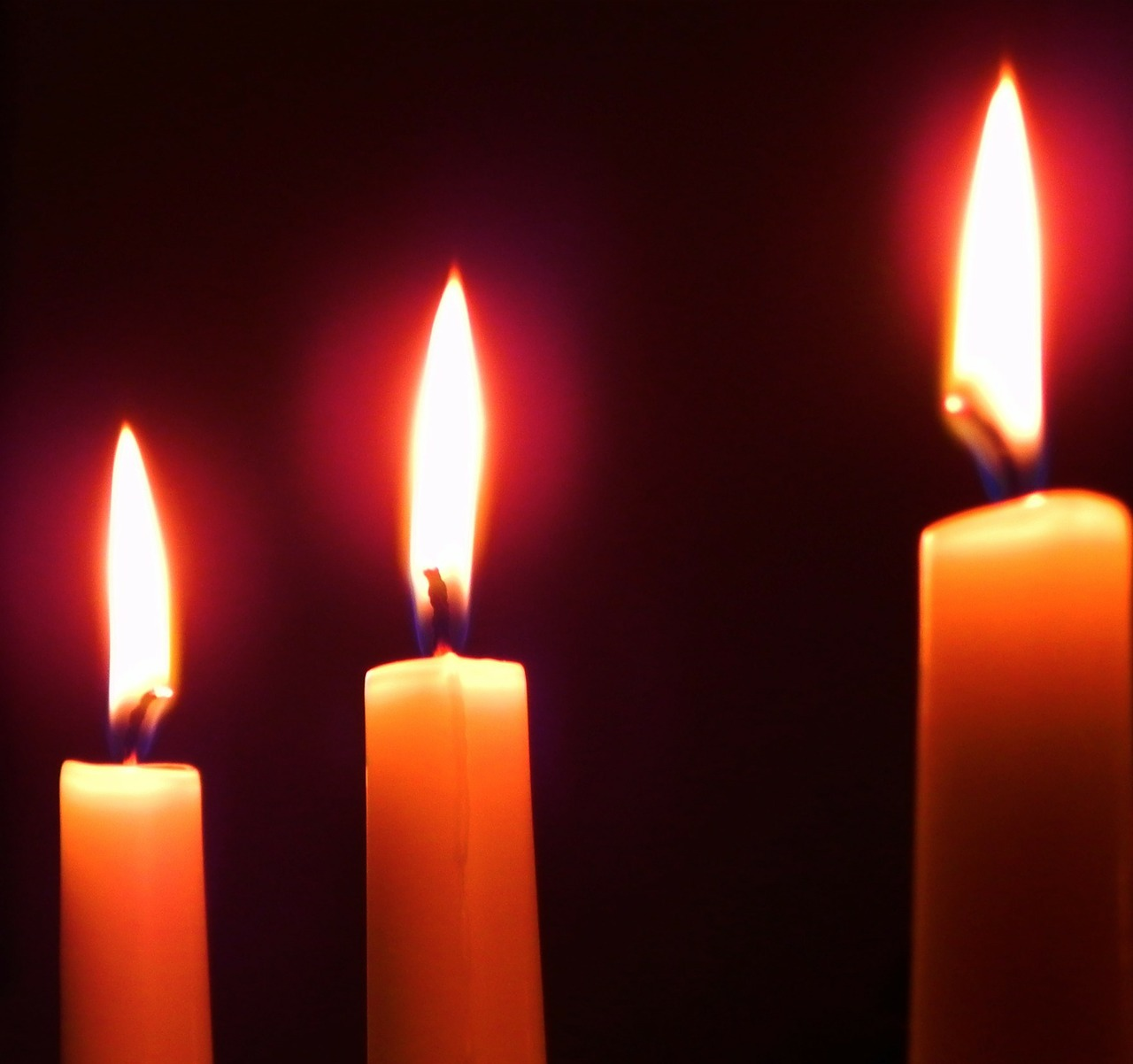 Three lit candles are bad luck https://pixabay.com/en/candles-flames-darkness-three-17903/