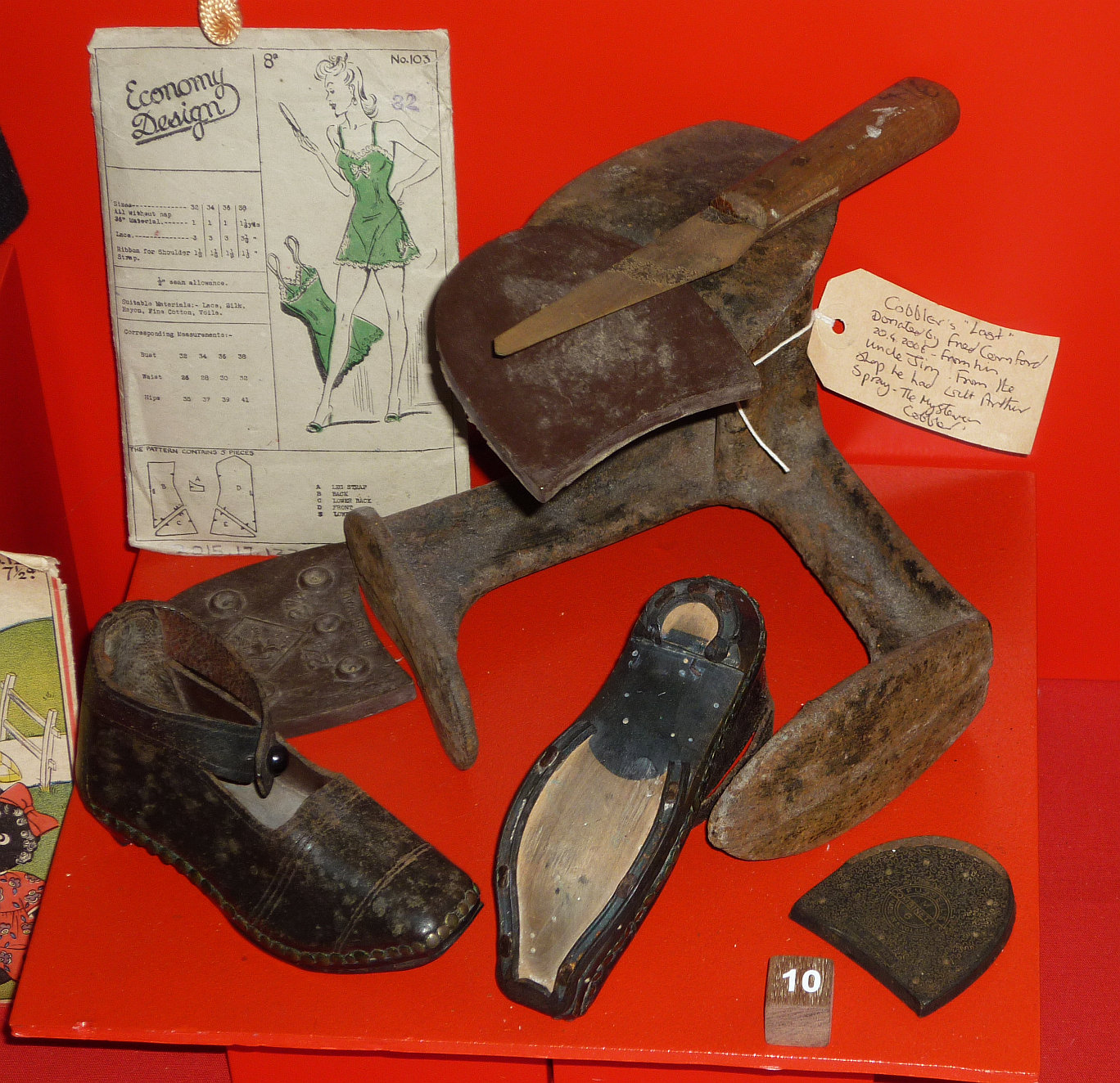 Cornford and Spray Cobblers Last, on display at Bexhill Museum © Bexhill Museum Arthur Spray Archive
