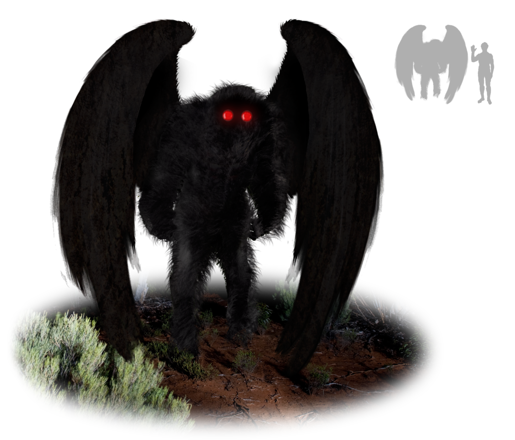 Illustration of the Mothman