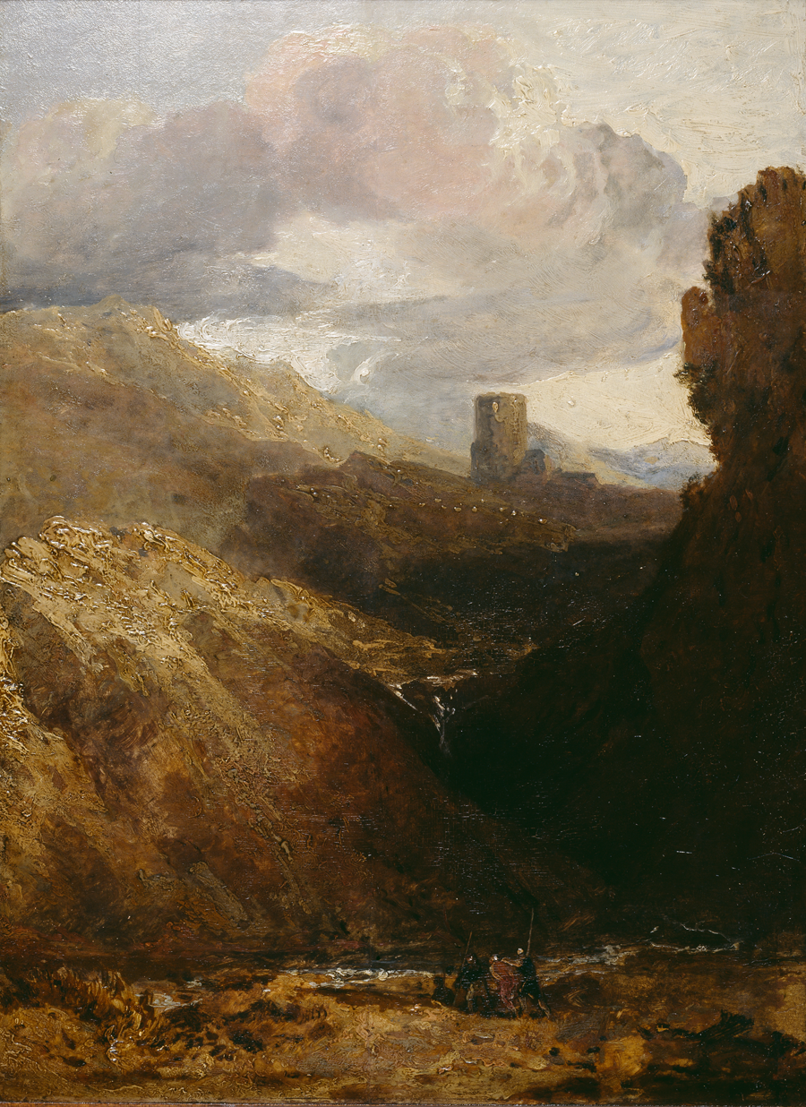 'Dolbadarn Castle', J. M. W. Turner ©The National Library of Wales https://syllwr.llyfrgell.cymru/4655776#?c=0&m=0&s=0&cv=0&xywh=-1791%2C-254%2C6900%2C5066