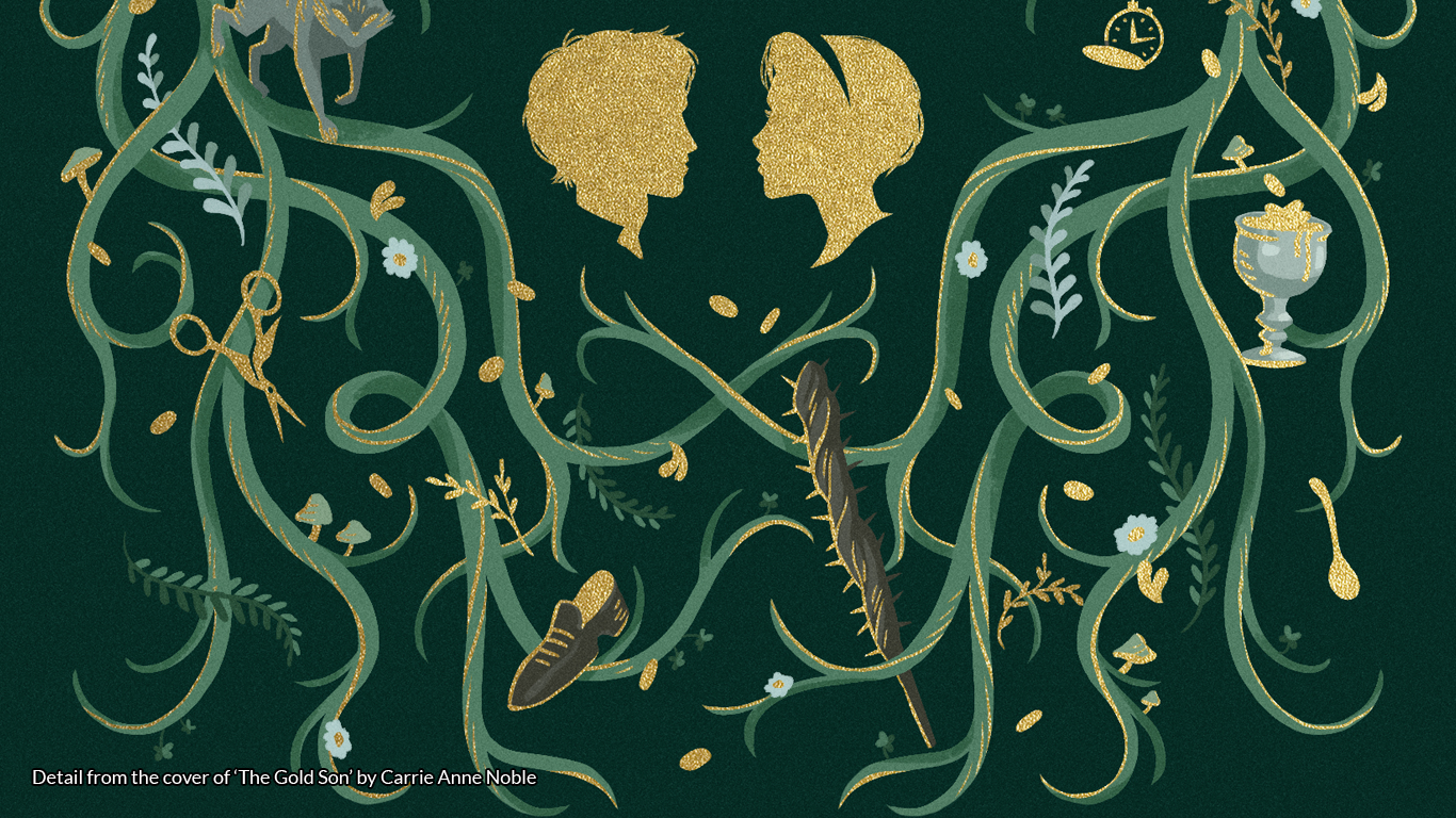 Detail from the cover of 'The Gold Son' by Carrie Ann Noble https://www.amazon.co.uk/gp/product/1477819673/ref=as_li_tl?ie=UTF8&camp=1634&creative=6738&creativeASIN=1477819673&linkCode=as2&tag=folkl-21&linkId=5de66febc5fa6cef7f39ceb2534153fd
