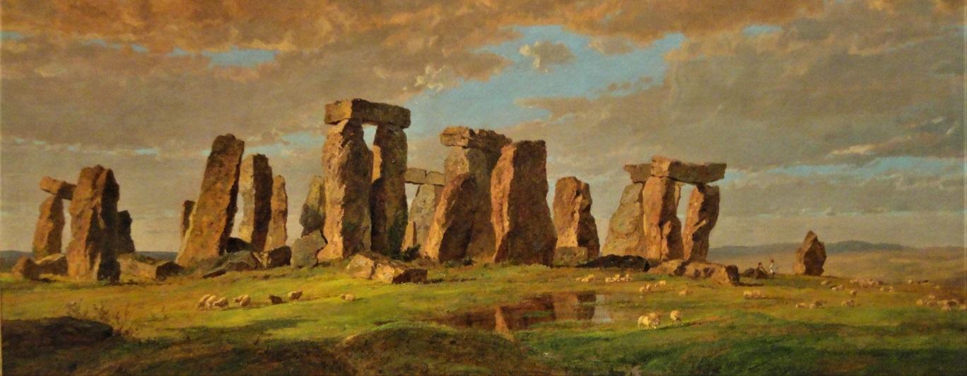 Stonehenge by Jasper Francis Cropsey [Public domain or CC0], Source Stonehenge by Jasper Francis Cropsey, 1876 - Nelson-Atkins Museum of Art - DSC09199.JPG