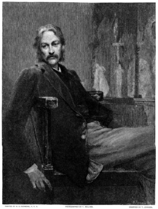 Andrew Lang, editor of the coloured fairy book series, journalist and anthropological folklorist. By T. Johnson – https://upload.wikimedia.org/wikipedia/commons/6/66/Century_Mag_Andrew_Lang_engraving.png