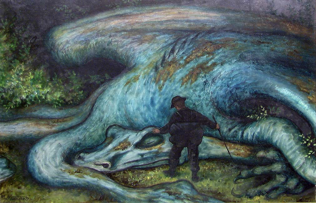 A dragon, by Theodor Kittelsen http://samling.nasjonalmuseet.no/no/object/NG.M.00552