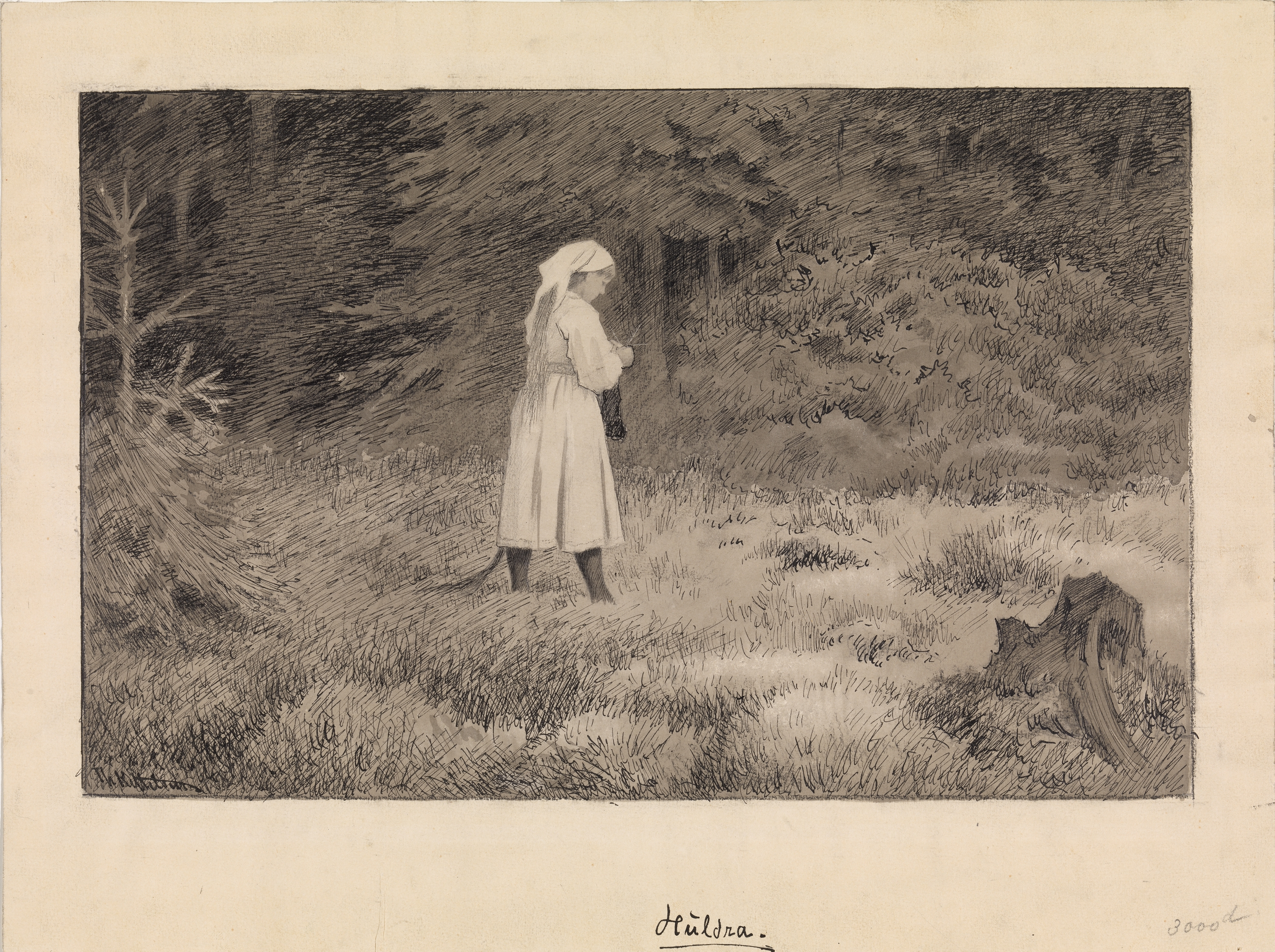 The typical hulder, by Theodor Kittelsen Source http://samling.nasjonalmuseet.no/no/object/NG.K_H.B.06921