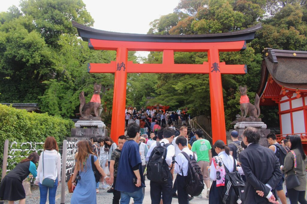 In the grounds of Fushimi Inari-Taisha © Amelia Starling
