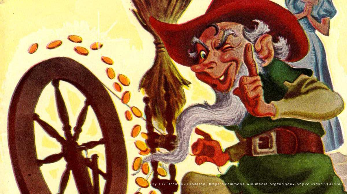 Rumpelstiltskin: Classics Illustrated Junior Comic Book Cover.