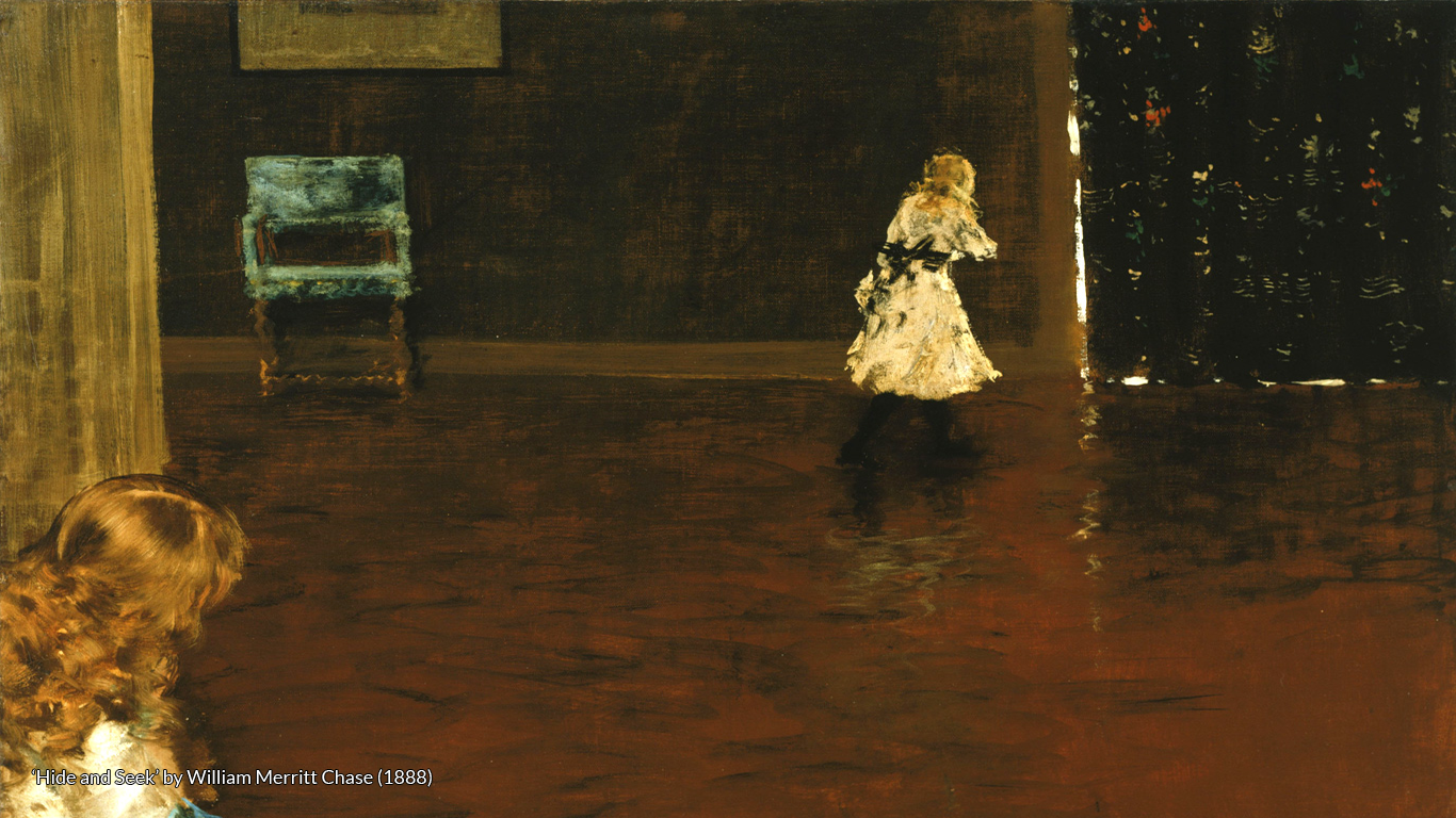 'Hide and Seek' by William Merritt Chase (1888)