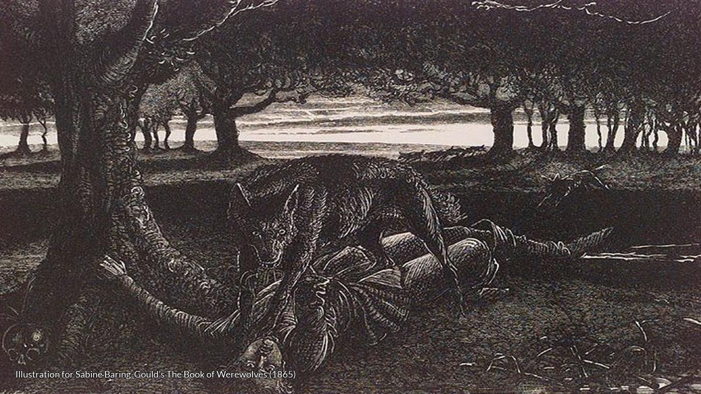 Illustration for Sabine Baring-Gould's The Book of Werewolves (1865)