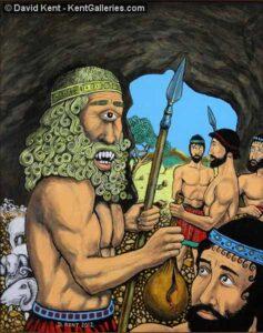 Odysseus and Polyphemus © David Kent