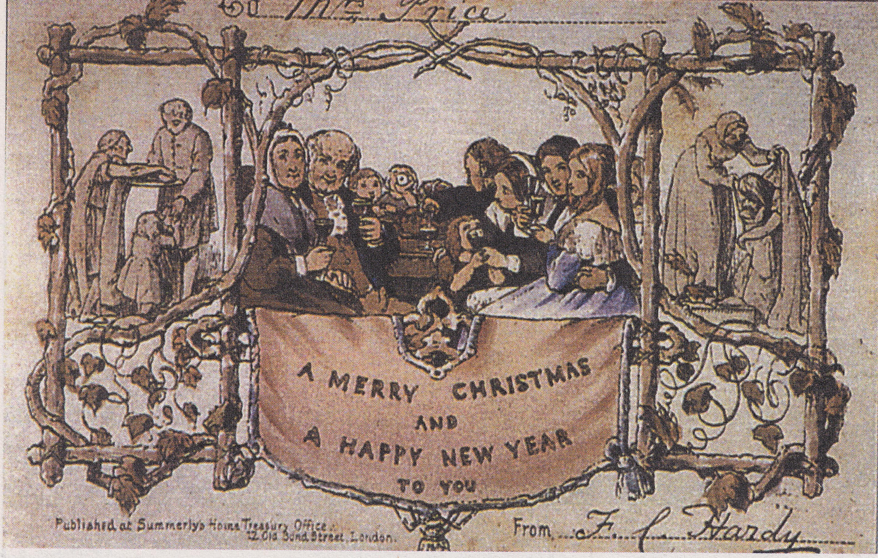 First Christmas Card.The First Christmas Card Commissioned By Henry Cole 1843
