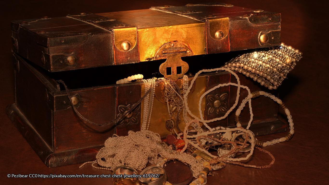 Buried treasure is common in English folktales, even the story of Fox Robin