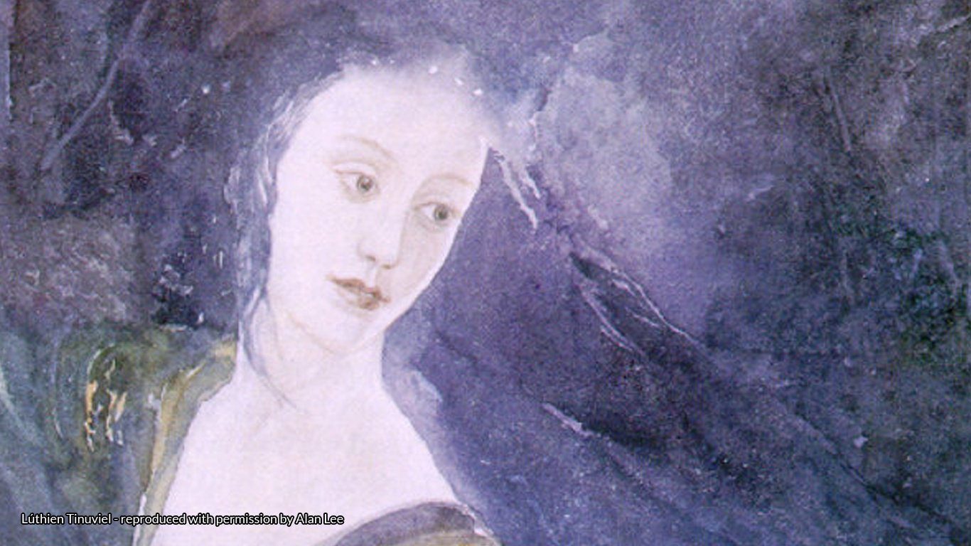 Painting of Lúthien Tinuviel reproduced with permission by Alan Lee