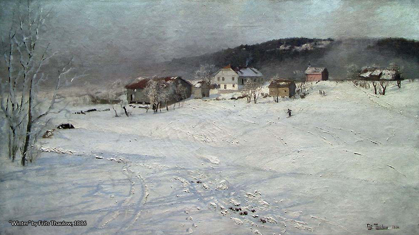 """Winter"" by Frits Thaulow, 1886."