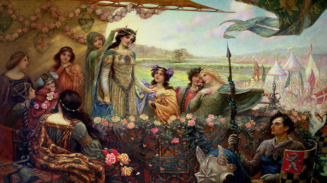 Lancelot and Guinevere - Herbert James Draper 1890s, Public Domain, https://commons.wikimedia.org/w/index.php?curid=29858139