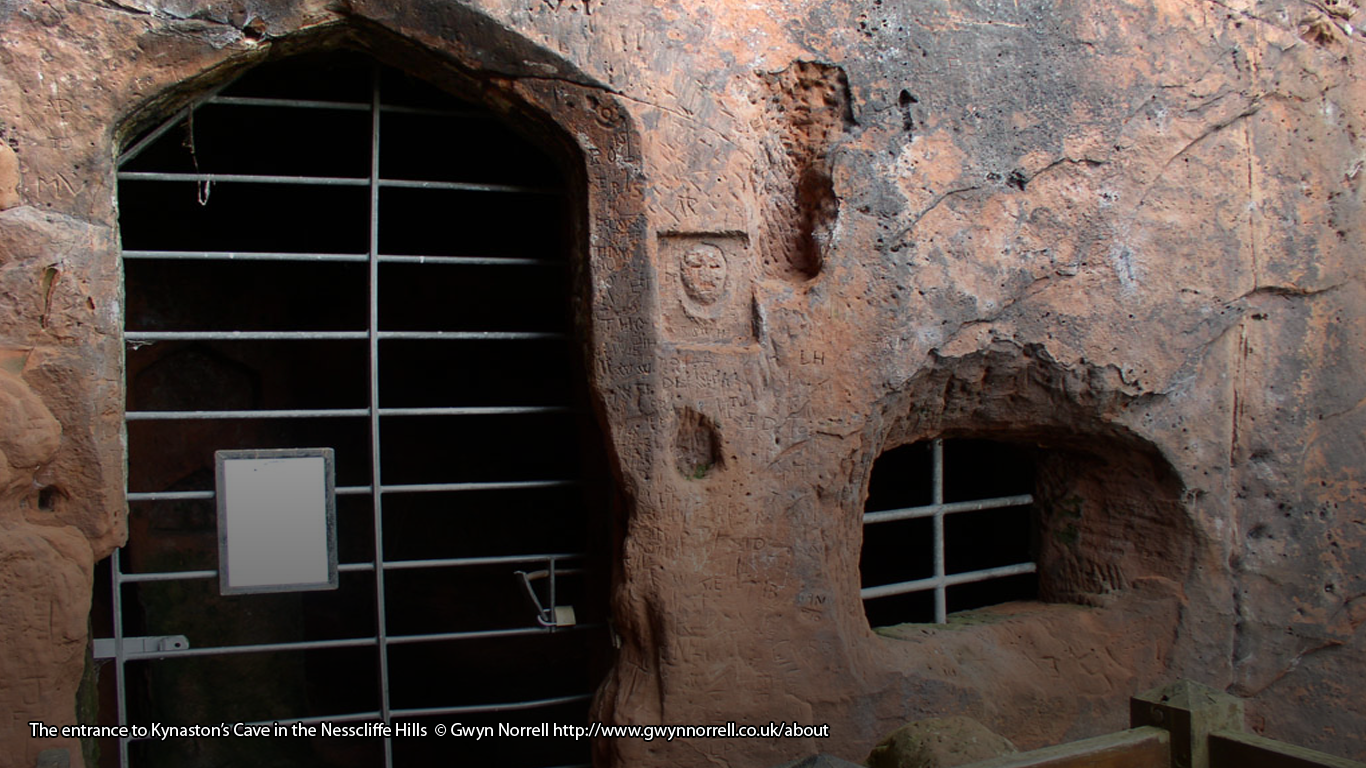The entrance to Kynaston's Cave in the Nesscliffe Hills © Gwyn Norrell http://www.gwynnorrell.co.uk/about