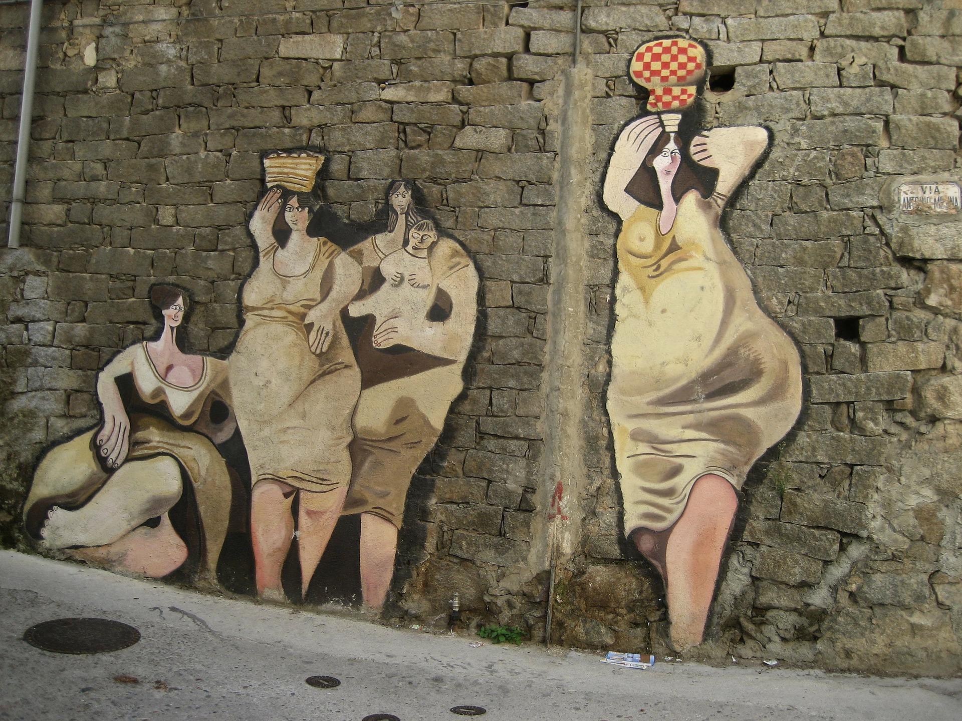 Mural in Sardinia https://pixabay.com/en/sardinia-murales-murals-art-223377/