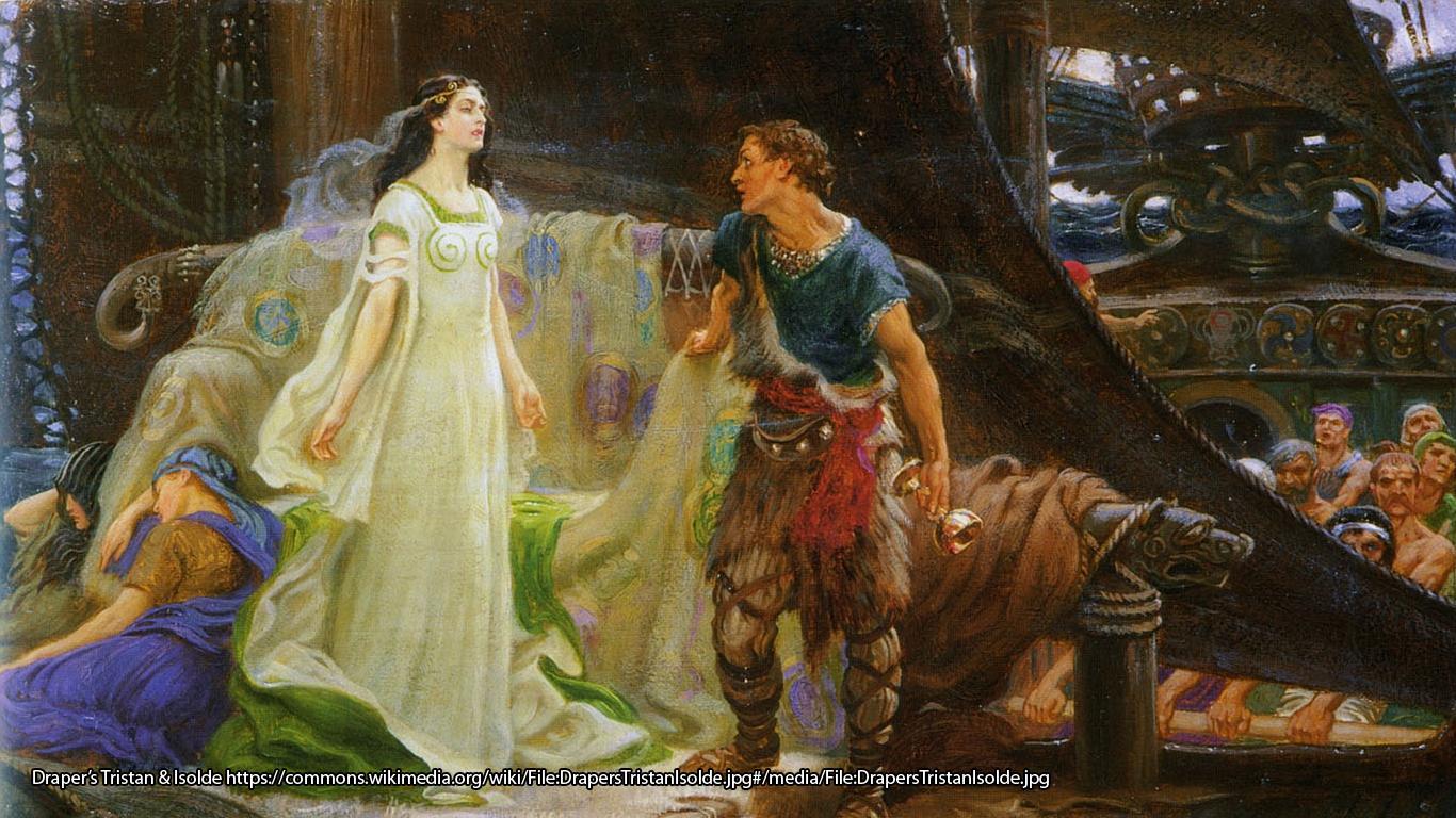 Draper's Tristan & Isolde https://commons.wikimedia.org/wiki/File:DrapersTristanIsolde.jpg#/media/File:DrapersTristanIsolde.jpg
