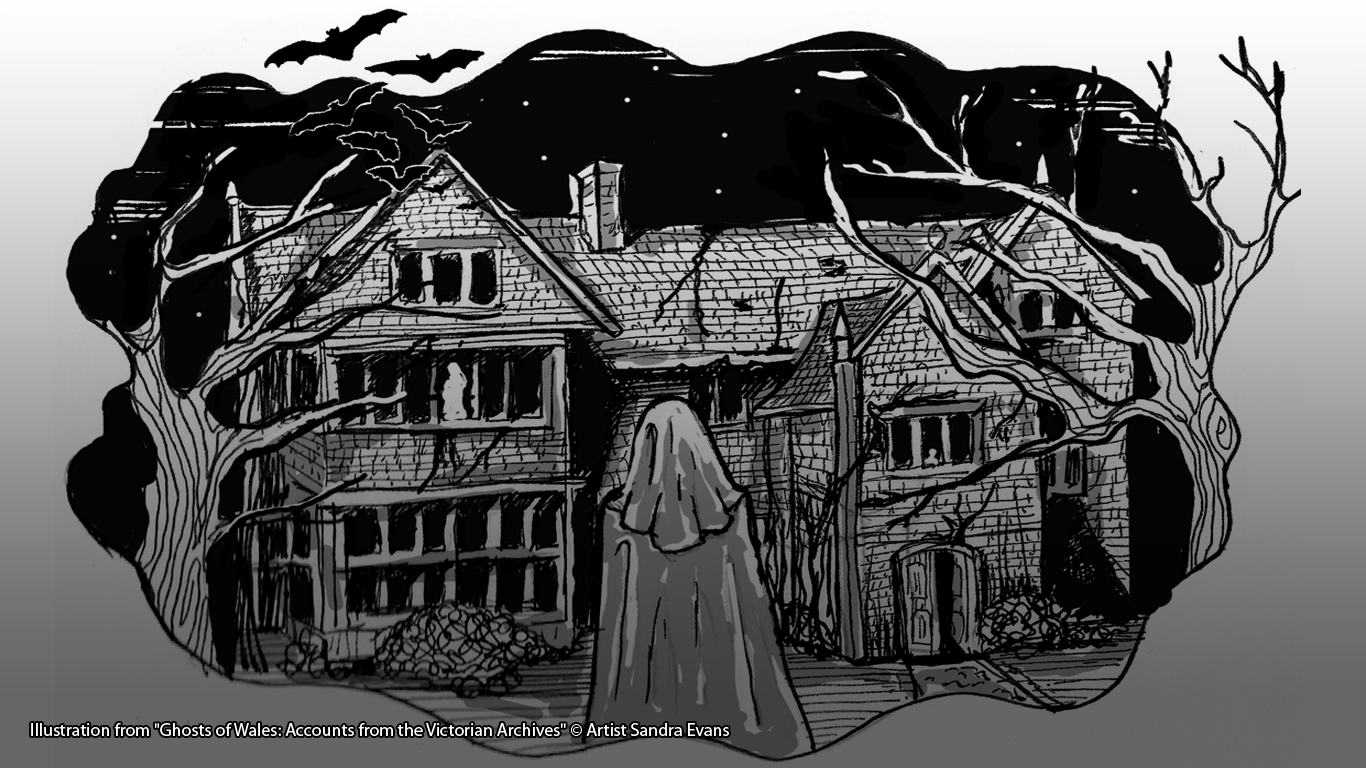 "Illustration from ""Ghosts of Wales: Accounts from the Victorian Archives"" © Artist Sandra Evans"
