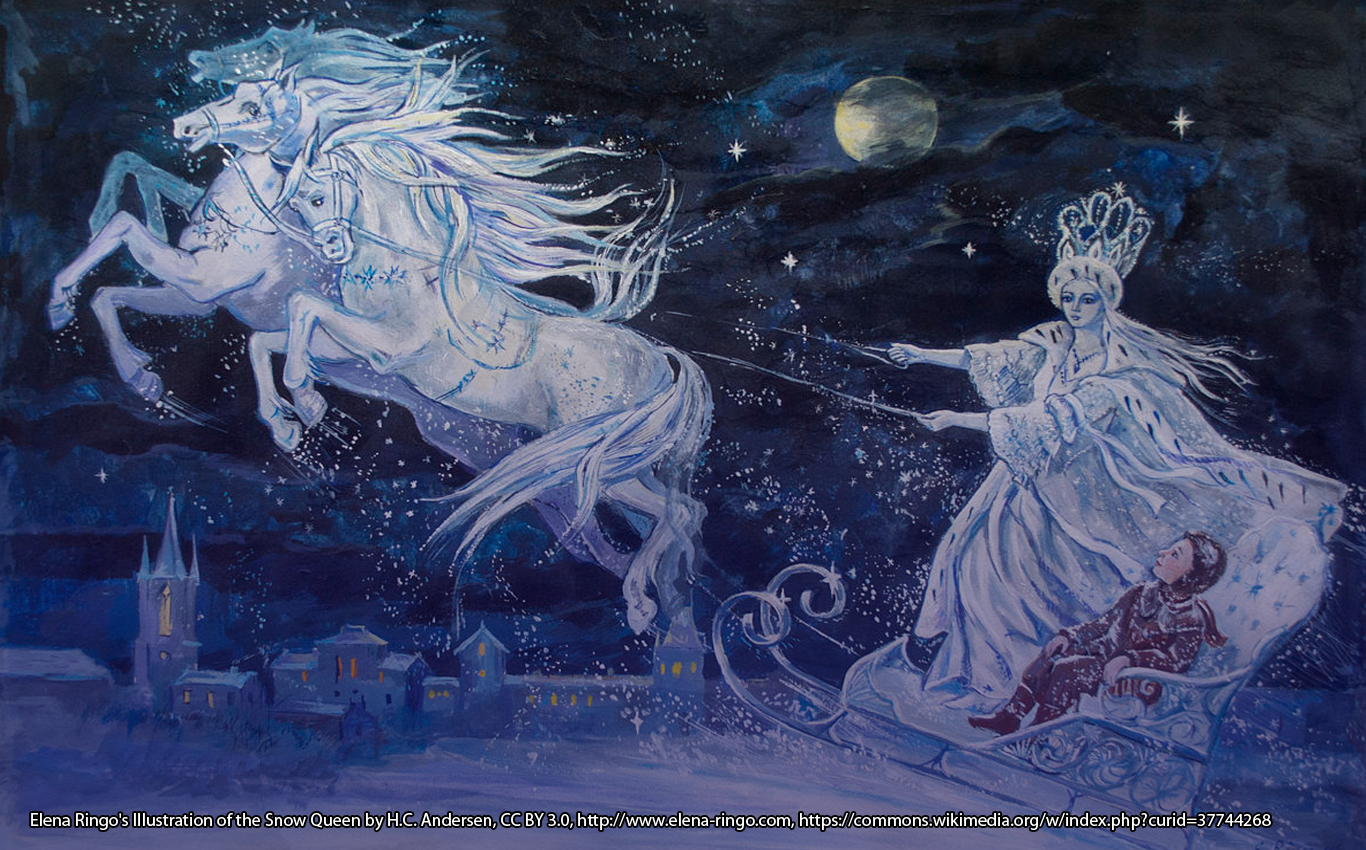 Elena Ringo's Illustration of the Snow Queen by H.C. Andersen, CC BY 3.0, http://www.elena-ringo.com, https://commons.wikimedia.org/w/index.php?curid=37744268