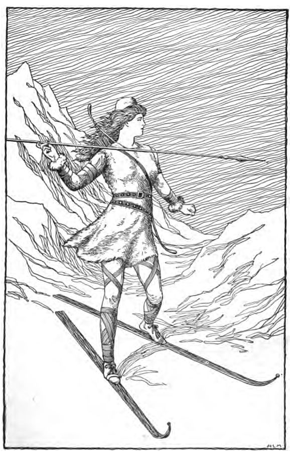Skadi Hunting in the Mountains (1901) by H. L. M.