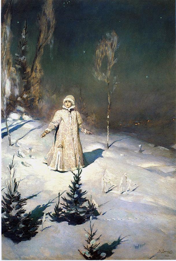 Snegurochka: The Russian Snow Maiden. By Viktor Mikhailovich Vasnetsov - Scanned from A. K. Lazuko Victor Vasnetsov, Leningrad: Khudozhnik RSFSR, 1990, ISBN 5-7370-0107-5, Public Domain, https://commons.wikimedia.org/w/index.php?curid=216029