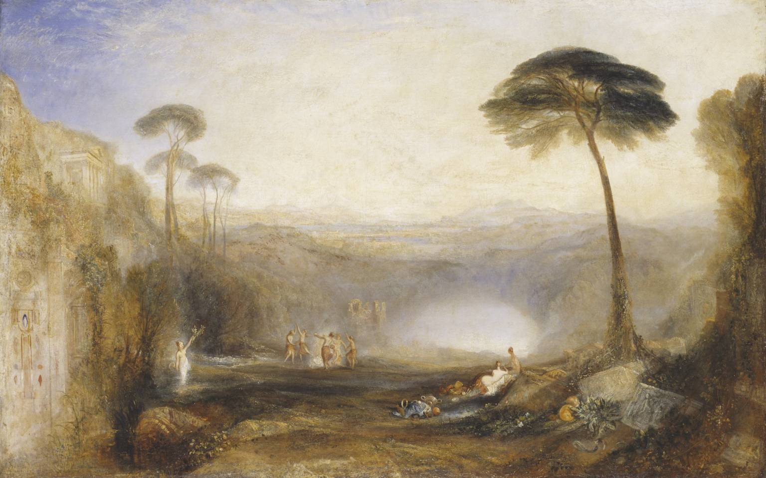 The Golden Bough exhibited 1834 Joseph Mallord William Turner 1775-1851 Presented by Robert Vernon 1847 https://commons.wikimedia.org/wiki/File:Golden_bough.jpg#/media/File:Golden_bough.jpg