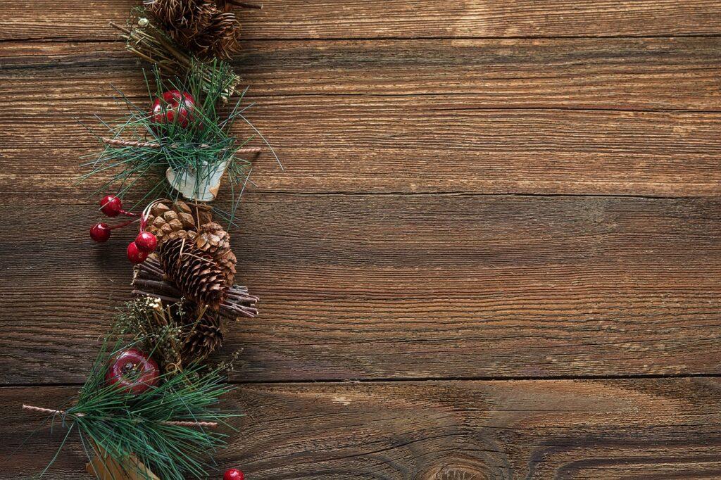 Christmas decorations -- evergreens