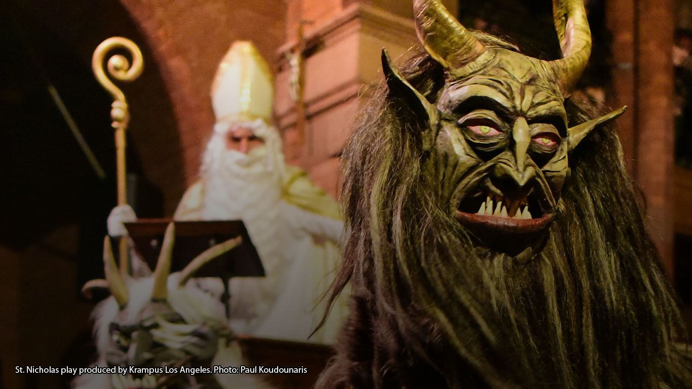 St. Nicholas play produced by Krampus Los Angeles. Photo: Paul Koudounaris