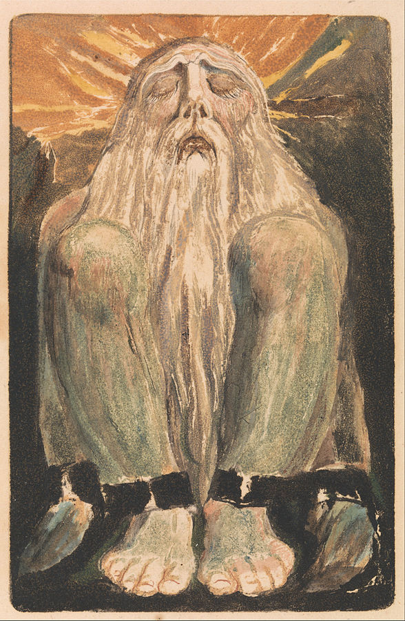 William Blake - The First Book of Urizen, Plate 12 Source https://commons.wikimedia.org/wiki/File:William_Blake_-_The_First_Book_of_Urizen,_Plate_12_(Bentley_22)_-_Google_Art_Project.jpg